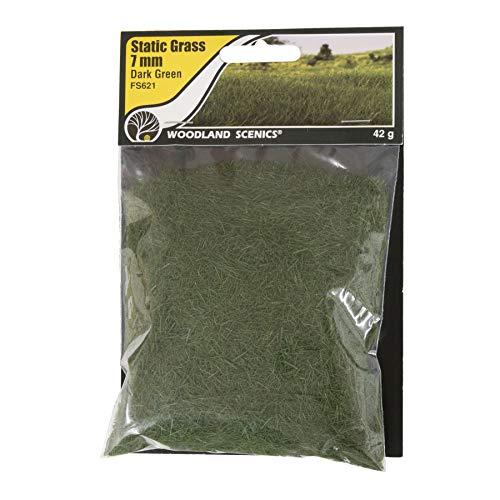 Woodland Scenics FS621 Static Grass, Dark Green 7mm