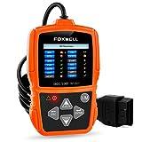 OBD II/OBD2 Scan Tool Auto Diagnostics Code Readers Check Car Engine Light Error Codes Scanner for Passing Emission Test Foxwell NT201 Orange