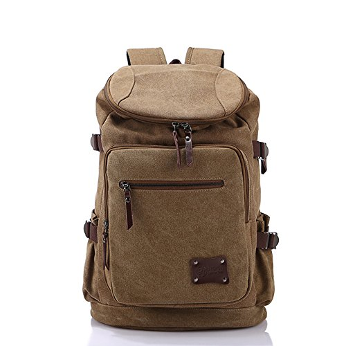 Yiy Canvas Shoulder Bag Brown Mens A3008