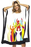 Back From Bali Womens Loose Beach Cover up Short Poncho Empowerment White
