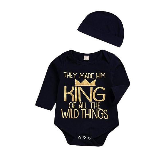 ASHOP Body Bebe Carters Conjunto niño Verano Camisa Mono Algodon (Negro,70 (0