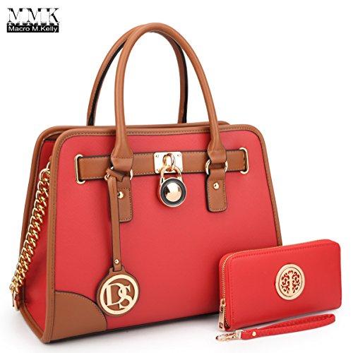 Red Satchel Handbags - 4