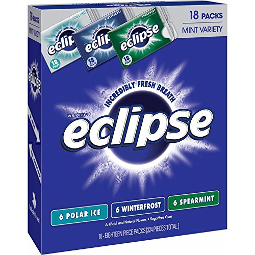 Eclipse Sugar-Free Gum Mint Variety Pack, 18 Pieces - 18-Pk