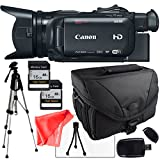 Canon XA35 Professional Camcorder 1003C002, Full Size Pro Tripod, 2X 16Gb SD Cards, SD Card Reader + Camera Bag, LCD Screen Protector and more