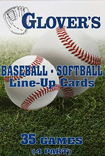 Glovers Scorebooks Baseball/Softball Line-Up Cards, Large (5.5x 8.5, 4 part) Glovers Scorebook