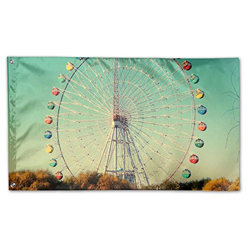 ferris wheel garden lawn flags