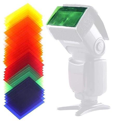 Filtro de Gel Universal para cámara réflex Digital, Color con ...