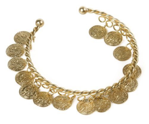 Rubie's Costume Co. Women's Gold Coins Bracelet Costume Accessory, As Shown, One (Belly Dancers Costumes Halloween)