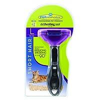 FURminator, herramienta de eliminación de pelo corto para gatos, grande