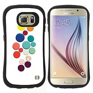 "Pulsar iFace Series Tpu silicona Carcasa Funda Case para Samsung Galaxy S6 , Color Blanco puntos de colores"""