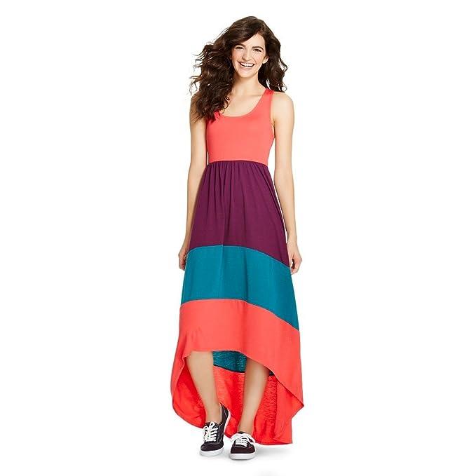 3ff8efc4ca4c Mossimo Supply Co High Low Racerback Sleeveless Blazing Coral Maxi Dress (L)