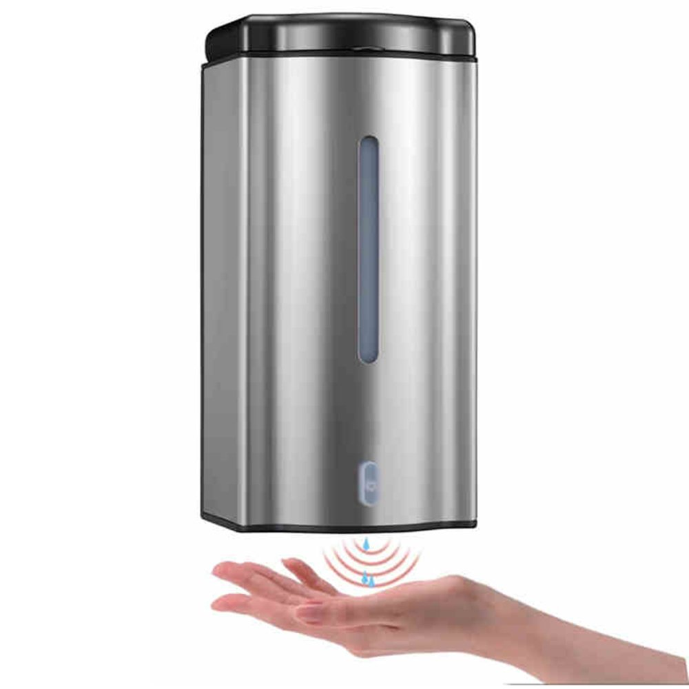 Soap rack-- Automatic Soap Dispenser Stainless Steel Induction Soap Dispenser Automatic Soap Dispenser Induction Soap Dispenser (Plug-in) (200 * 100 * 90mm) -Easy to use HAIZHEN