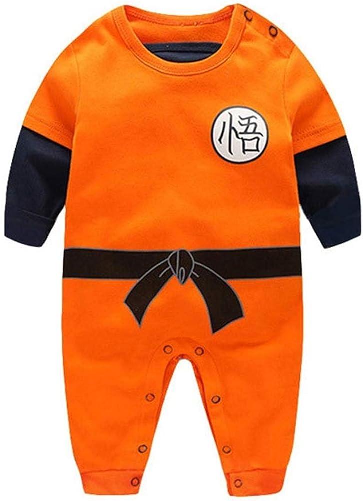 Offerta – YEMOCILE Dragon Ball Z Design Baby Boys Girls Pagliaccetto Cosplay Costume Goku Ispirato Body Pigiama Bambino Tutine Vestiti,