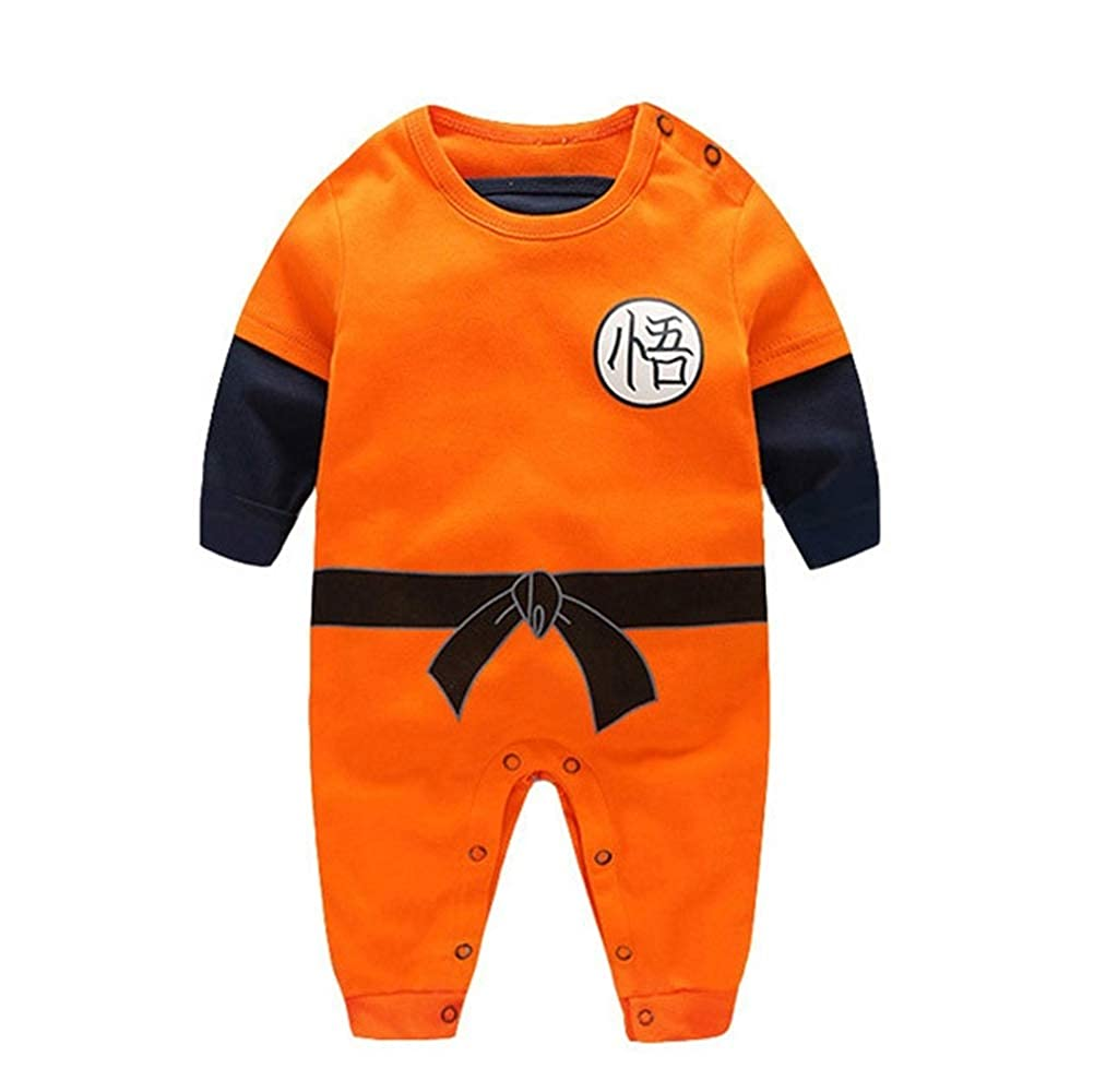 Offerta – YEMOCILE Dragon Ball Z Design Baby Boys Girls Pagliaccetto Cosplay Costume Goku Ispirato Body Pigiama Bambino Tutine Vestiti,