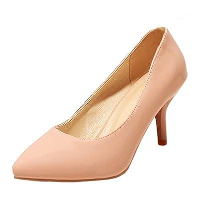 TAOFFEN Damen Solid Stiletto Buro Pumps Schuhe