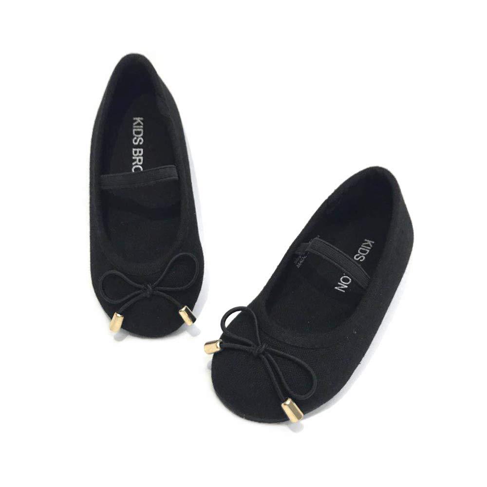 Bear Mall Baby Girl Shoes Slip-on Ballet Flats Black Uniform Shoes for Toddler Girl Dress Shoes (Toddler/Little Kid)