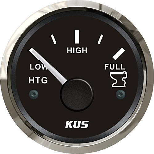 Holding Tank Level Gauge (KUS Holding Tank Level Gauge Meter Indicator 0-190ohm 12V/24V 52MM(2