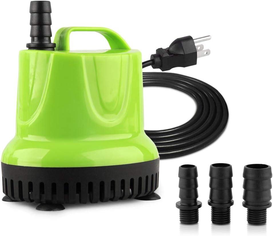 FREESEA 160-1100 GPH Submersible Water Pump for Pond, Aquarium, Hydroponics, Fish Tank Fountain