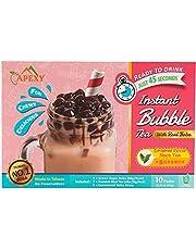 Bubble Tea COMPLETE SET. BEST DIY Boba / Bubble Tea Kit, Ready In 45 Seconds, 5 Packs Milk Tea Powder + 5 Packs Brown Sugar Tapioca Pearls+ 5 Bubble tea Straws By APEXY
