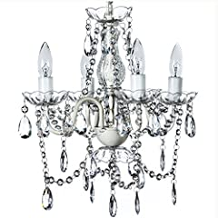 By far our best seller, this gorgeous polycarbonate crystal-beaded Antique Style Crystal Chandelier adds a touch of class to any interior including girls room, nursery, kids room, foyer, bedroom, bathroom, closet, gala event, wedding receptio...