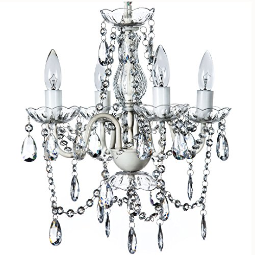 The Original Gypsy Color 4 Light Small Crystal Chandelier for H 17.5