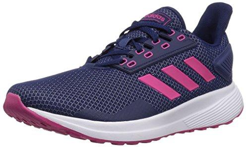 adidas Women's Duramo 9 Running Shoe, Dark Blue/Real Magenta/White, 7.5 M US