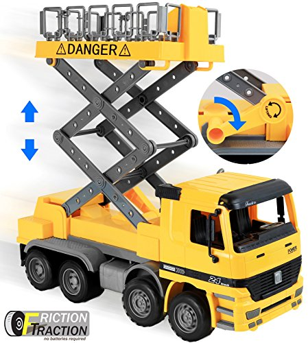 Construction Play Toys : Click n play friction powered jumbo scaffold bucket lift