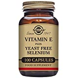 Cheap Solgar – Dry Vitamin E with Yeast Free-Selenium, 100 Vegetable Capsules