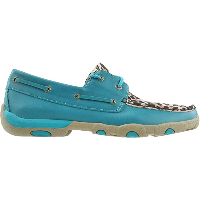 Amazon.com | Twisted X Womens Turquoise/Leopard Driving Moccasins | Oxfords