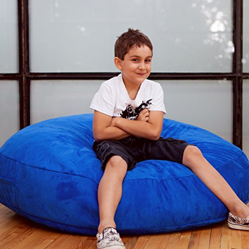 (Jaxx Bean Bags Cocoon Junior Kids Bean Bag, 4-Feet, Blueberry Microsuede)