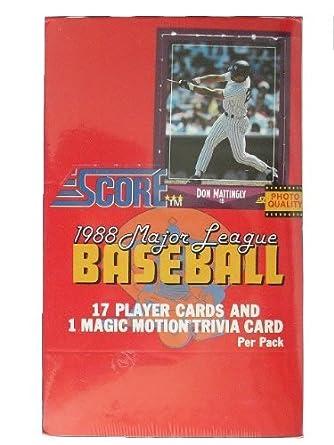 Amazoncom 1988 Score Baseball Cards Wax Box Collectibles