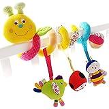 Shiloh Baby Activity Spiral Wrap Around Crib Bed Bassinet Stroller Rail Decorations Toy (Caterpillar)