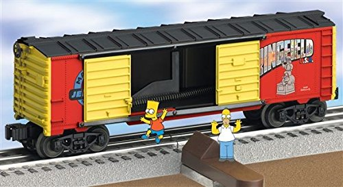 LIONEL TRAINS JUMPING BART SIMPSON BOXCAR 26801