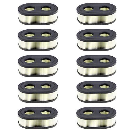 593260 798452 Air Filter - Air Filter Cartridge for Briggs & Stratton Cartridge, Toro, Husqvarna, Troy Bilt TB110 Walk-Behind Lawn Mower Tractor - 10 Pack
