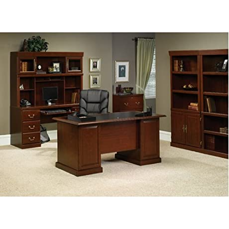 Sauder Office Furniture Heritage Hill Collection Classic Cherry Traditional Executive Office Suite