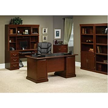 sauder office furniture heritage hill collection classic cherry traditional executive office suite cherry office furniture
