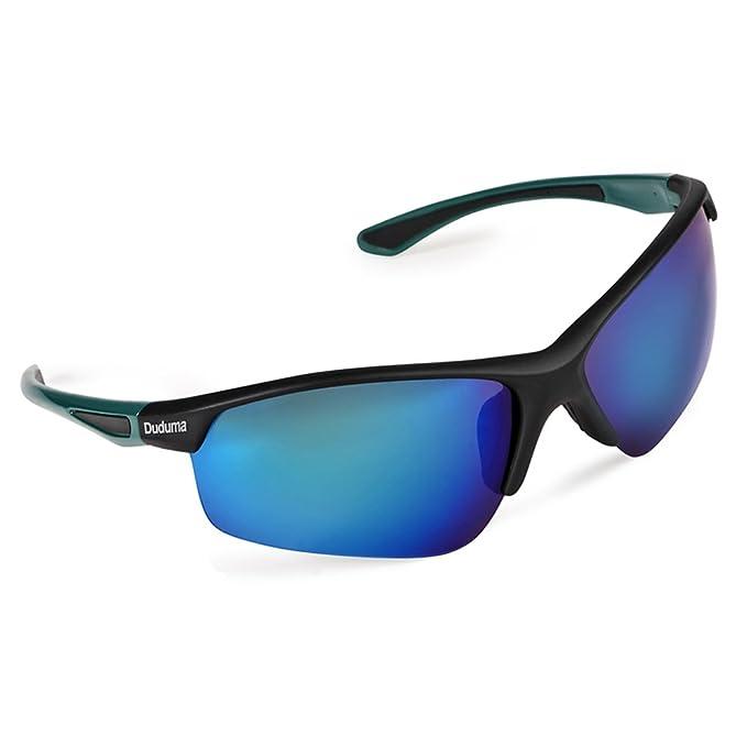 Duduma polarizado Deportes Gafas de sol para hombre para esquiar Golf Correr Ciclismo tr58 instalas Marco Diseño para hombre y mujer Negro Grüner Rahmen mit ...