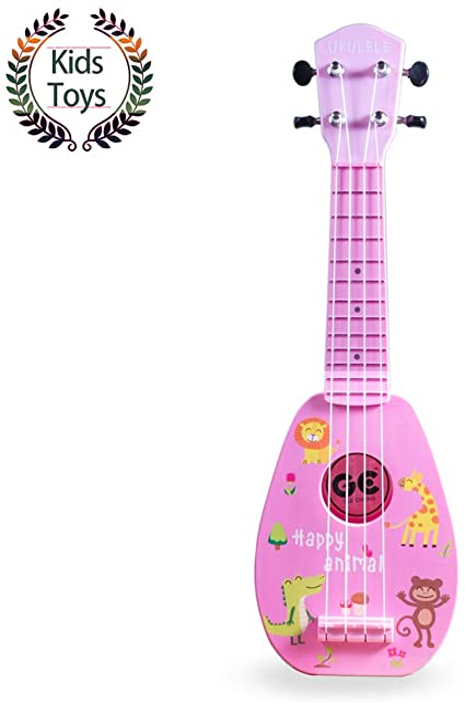1 unid set de madera ukelele Hawaii mini guitarra para ni/ños adultos y principiantes conjunto sol color