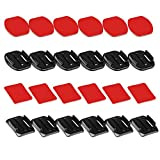 D&F 6pcs Curved Tape+ 6pcs Flat Sticker Adhesive Double Side Mounts with Adapter for GoPro Hero 7/6/5/4/3+/3 SJCAM & Helmet Accessories Kit