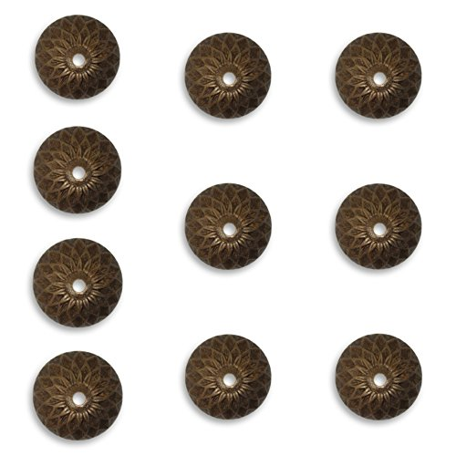 10 Vintaj Acorn Bead Caps Natural Brass, BC0003, 13mm for Jewelry Making