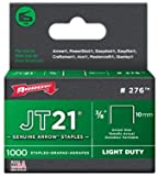 Arrow 276 JT21 3/8-Inch / 10mm Staples, 1000 Staples, Pack of 50