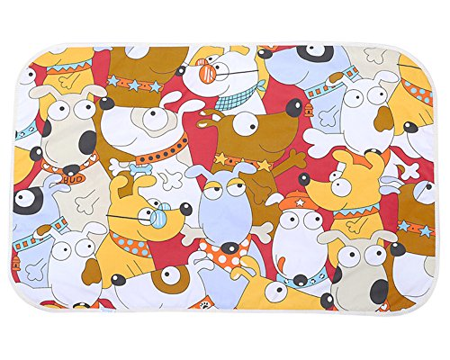 KAV llifestyle 03 Big Doggy design infant baby waterproof play mat mattress pad 3 layers cloths 47 inch x 30 inches - Buy one FREE one organic cotton random design bandana drool bibs