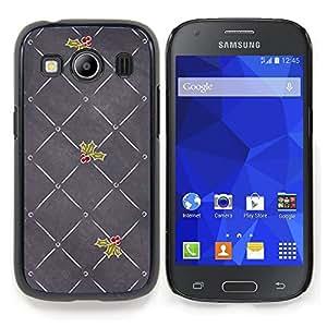Stuss Case / Funda Carcasa protectora - Gris Amor de la Navidad Muérdago - Samsung Galaxy Ace Style LTE/ G357