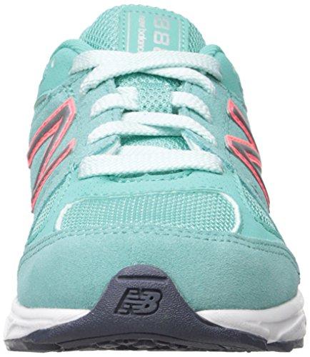 New Balance KJ888V1 Pre Running Shoe (Little Kid) Grey/Green