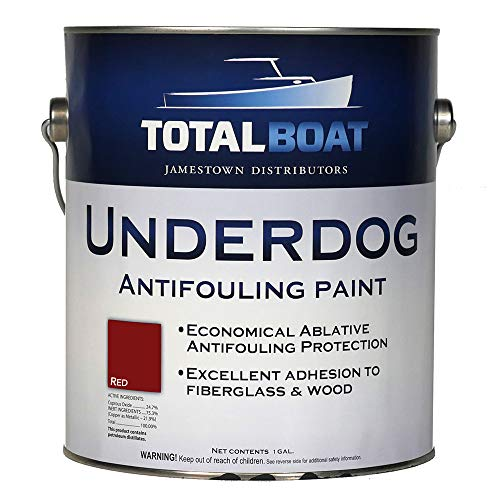 TotalBoat Underdog Bottom Paint (Red) Gallon (Best Way To Remove Paint From Aluminum Boat)