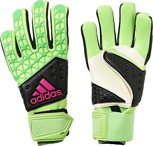 adidas Herren Torwarthandschuhe Ace Zones Pro, Solar Green/Core Black/Shock Pink S16, 10, AH7803