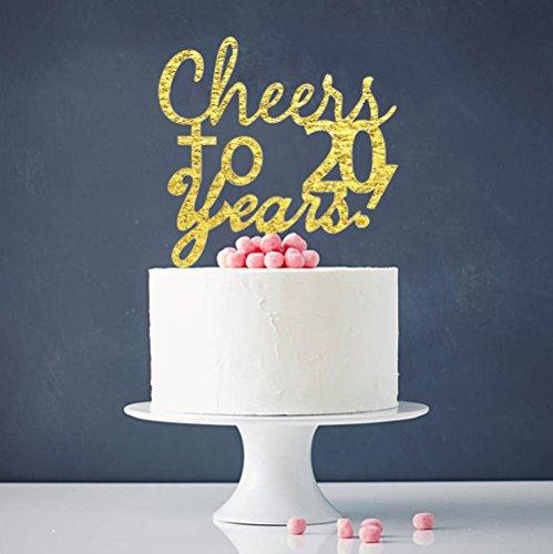 INNORU Cheers To 20 Years Cake Topper