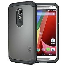 TUDIA Slim-Fit CYGEN Dual Layer Protective Case for Motorola Moto G (2nd Gen 2014 Released ONLY) (Metallic Slate)