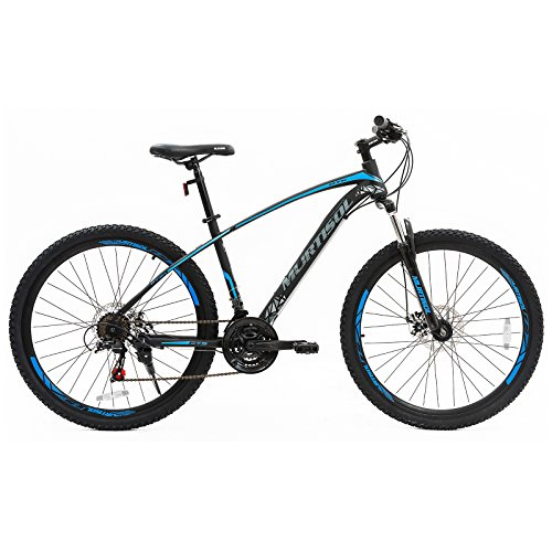 Murtisol Mountain Bike 27.5'' Hybrid Bicycle with Dual Disc Brake, 21 Speeds Derailleur, Designed Frame, Suspension Fork, Adjustable Seat in 3 Colors
