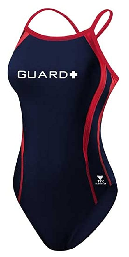 43bf349d53550 Amazon.com : TYR Sport DPSG7A Womens Guard Splice Swimsuit, Navy/Red ...